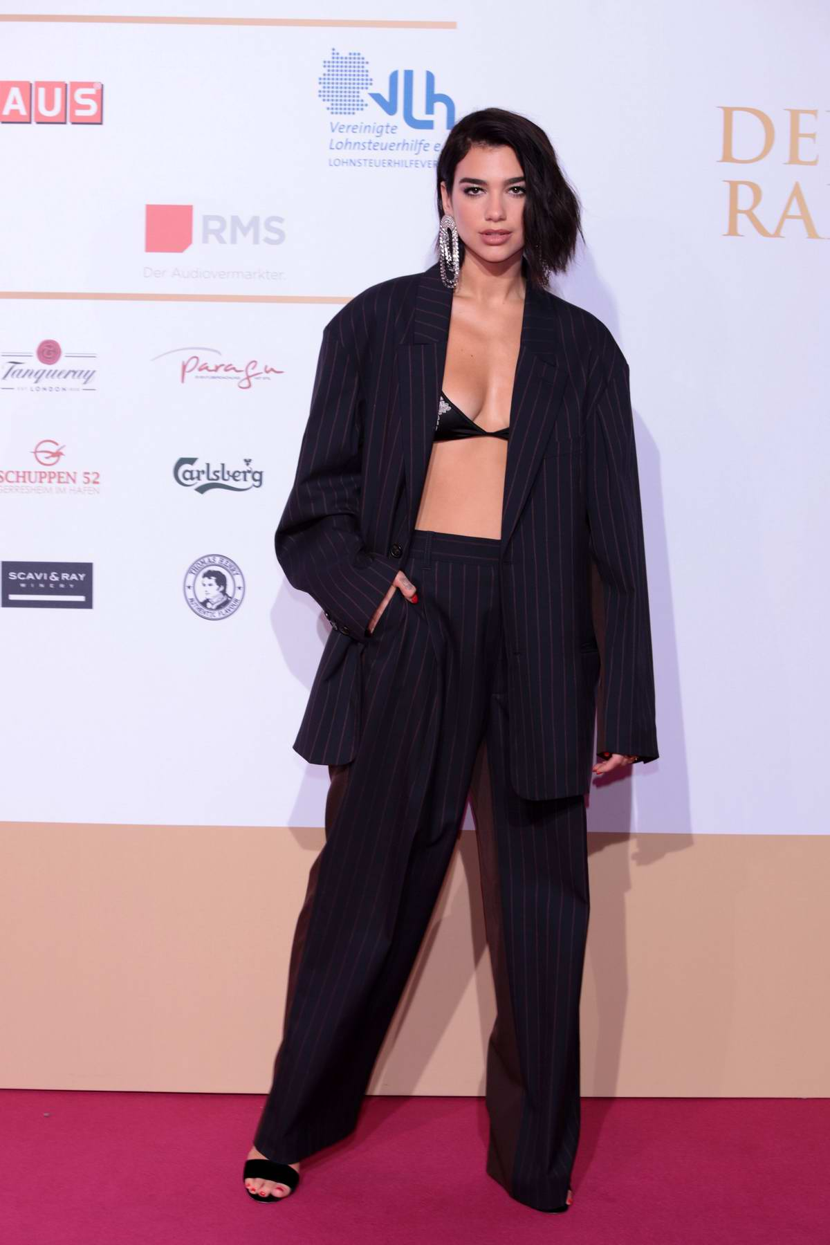 Dua Lipa attends Deutscher Radiopreis 2018 in Hamburg, Germany