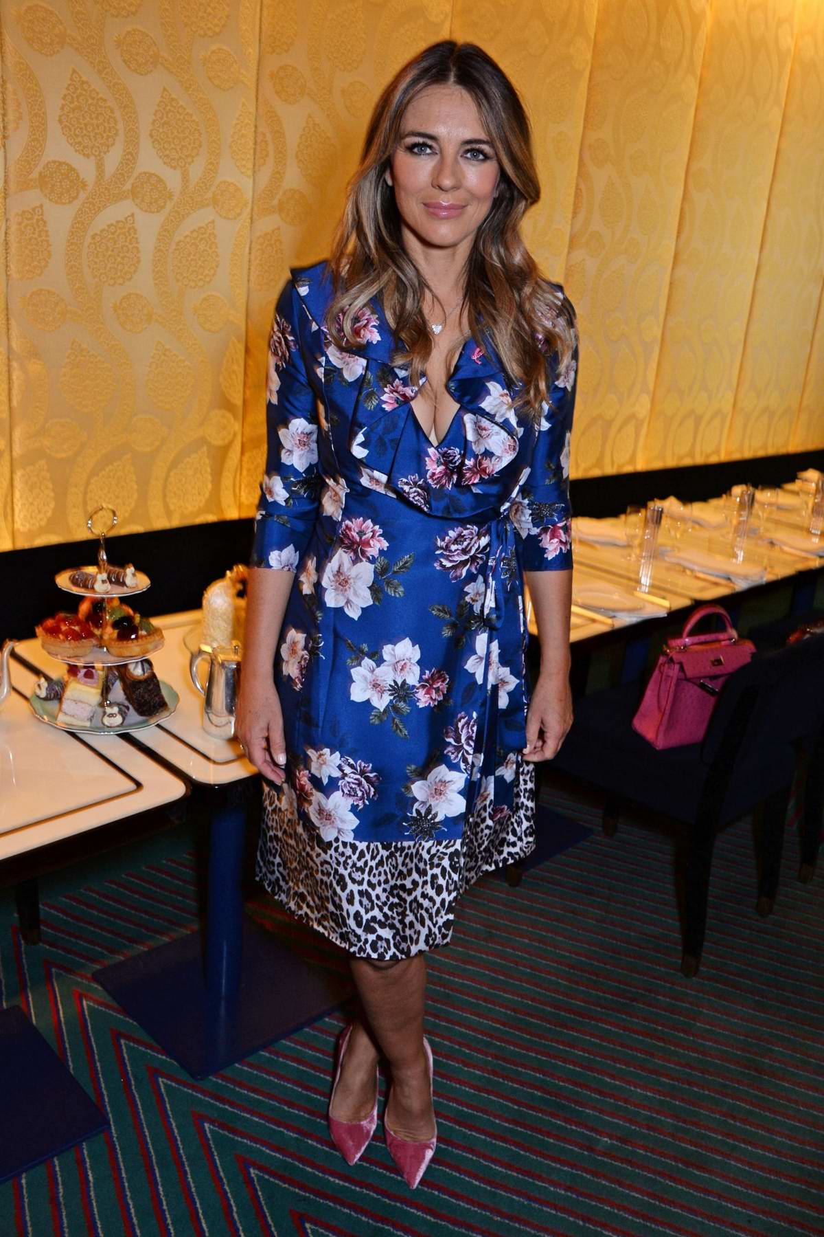 Elizabeth Hurley attends World's Biggest Coffee Morning in Support of Macmillan Cancer Support in London, UK