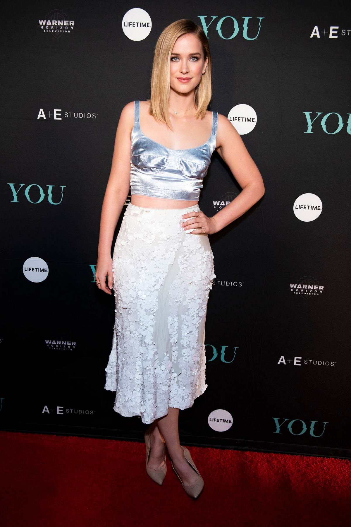 Elizabeth Lail attends 'You' TV series premiere in New York City