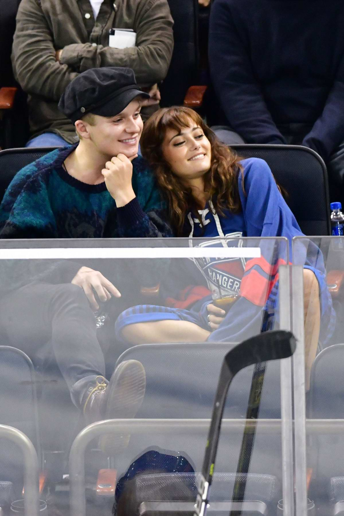 Ella Purnell spotted at the Philadelphia Flyers Vs New York Rangers at Madison Square Garden in New York City