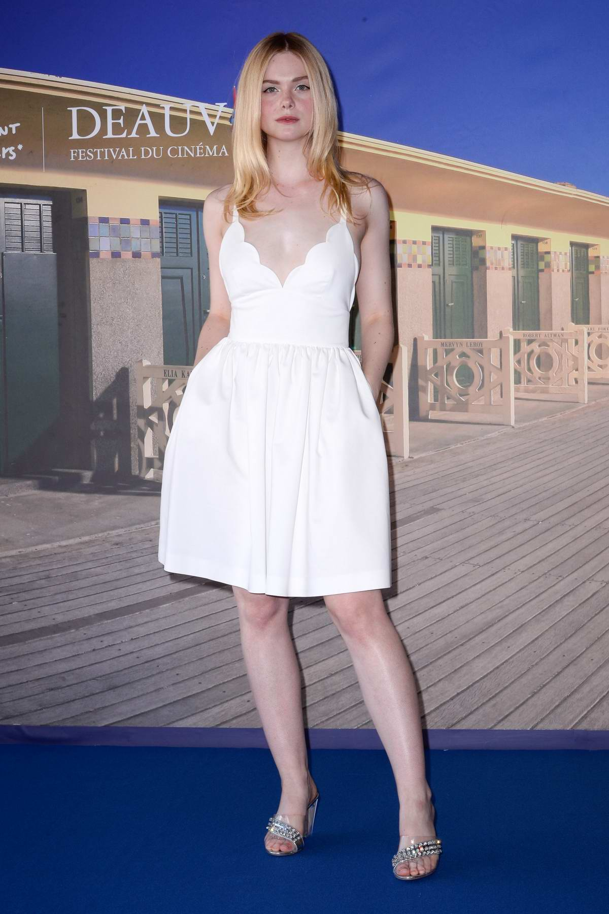 Elle Fanning attends 'Galveston' photocall during the 44th Deauville American Film Festival in Deauville, France