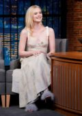 Elle Fanning makes an appearance on 'Late Night With Seth Meyers' in New York City