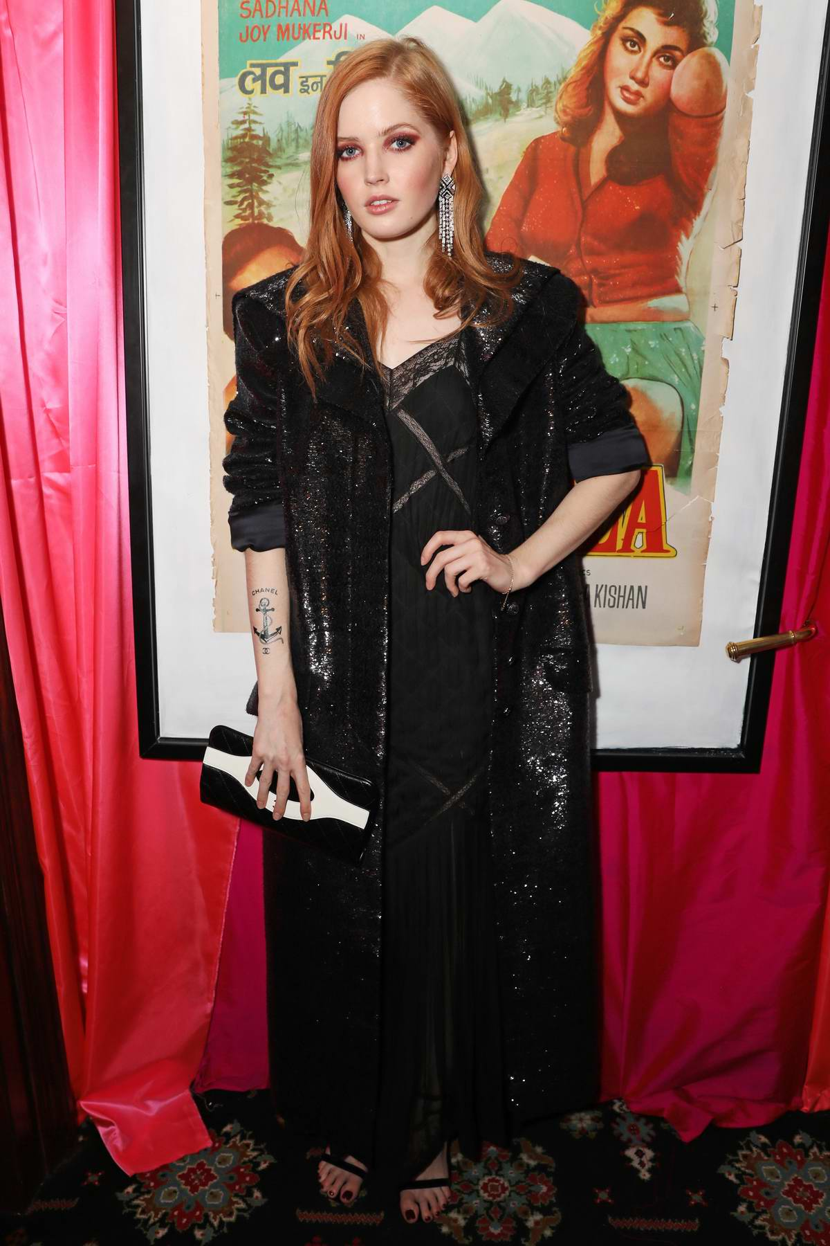 Ellie Bamber attends the LOVE Magazine 10th birthday party in London, UK