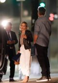 Emilia Clarke and David Benioff spotted as they leave after a late night dinner at Providence in Los Angeles