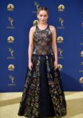 Emilia Clarke attends the 70th Primetime EMMY Awards (EMMYS 2018) at Microsoft Theater in Los Angeles
