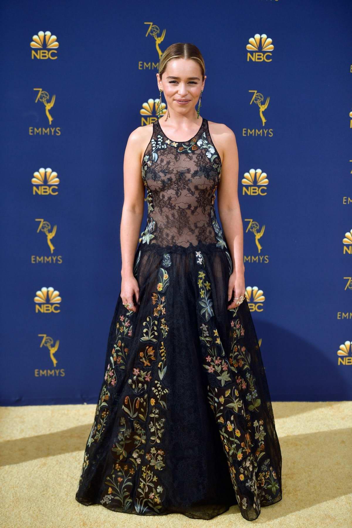 Emilia Clarke attends the 70th Primetime EMMY Awards ...