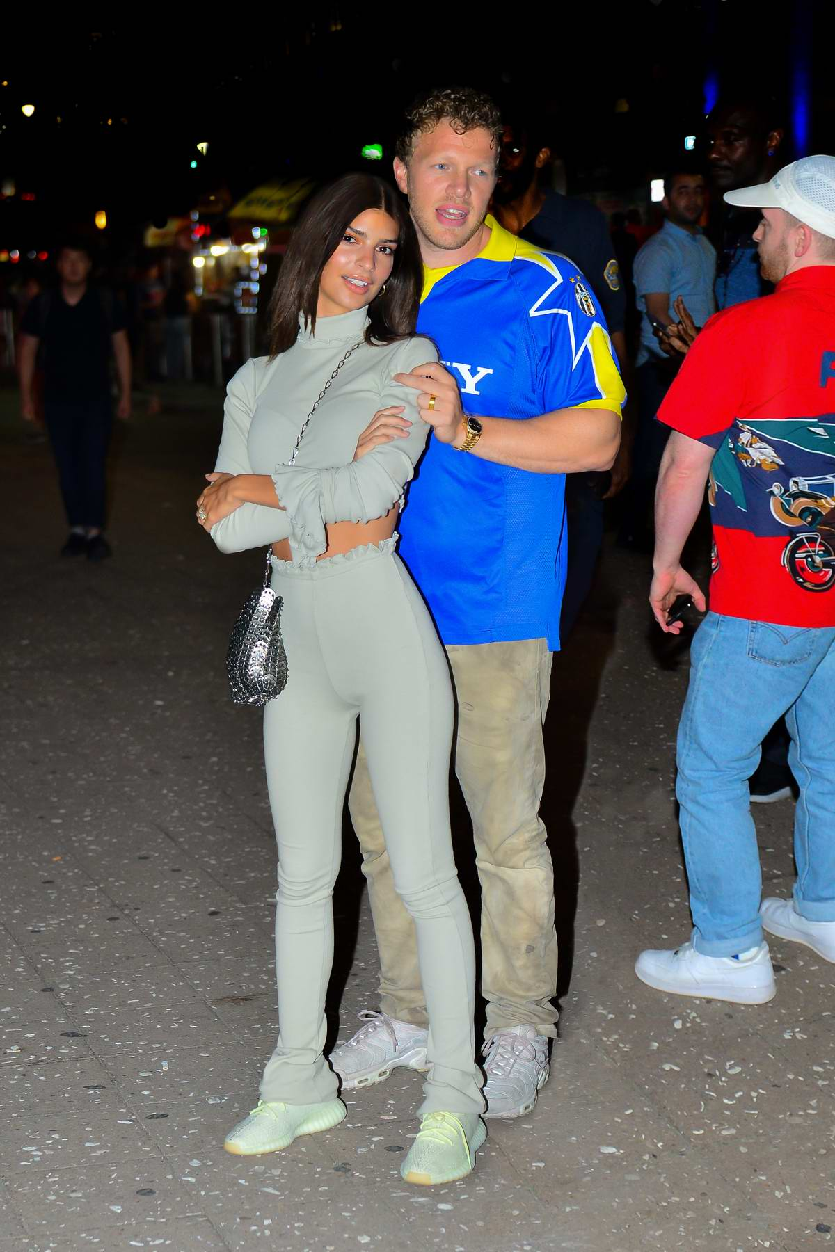 Emily Ratajkowski and husband Sebastian Bear-McClard spotted out after the Drake concert in New York