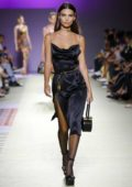 Emily Ratajkowski walks the runway at Versace Fashion Show during Milan Fashion Week, Spring/Summer 2019 in Milan, Italy