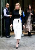 Emma Roberts steps out all decked up as she leaves her hotel during New York Fashion Week in New York City