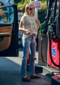 Emma Roberts stopped by a gas station while out running errands in Los Feliz, California