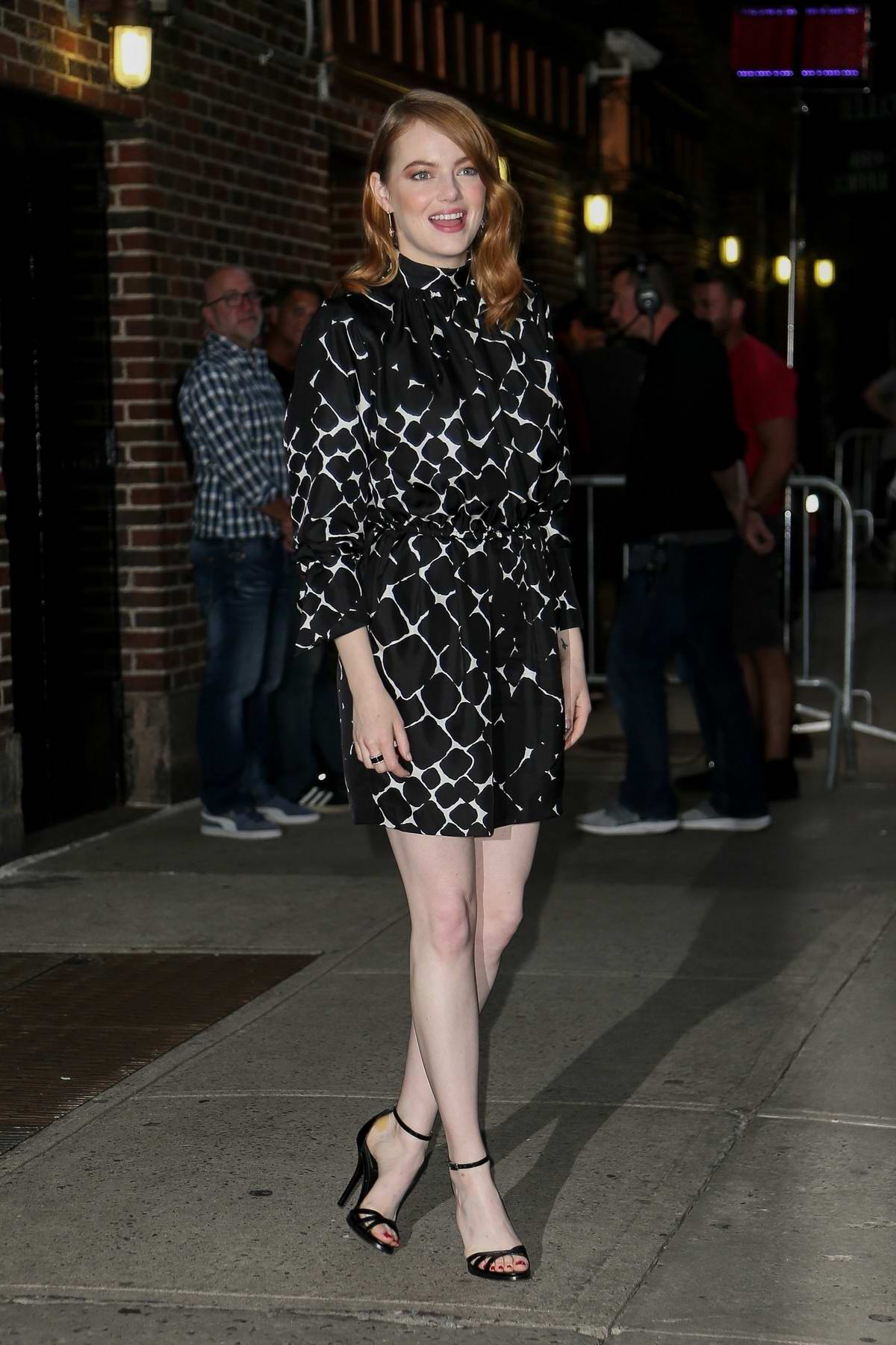 Emma Stone visits 'The Late Show With Stephen Colbert' in New York City