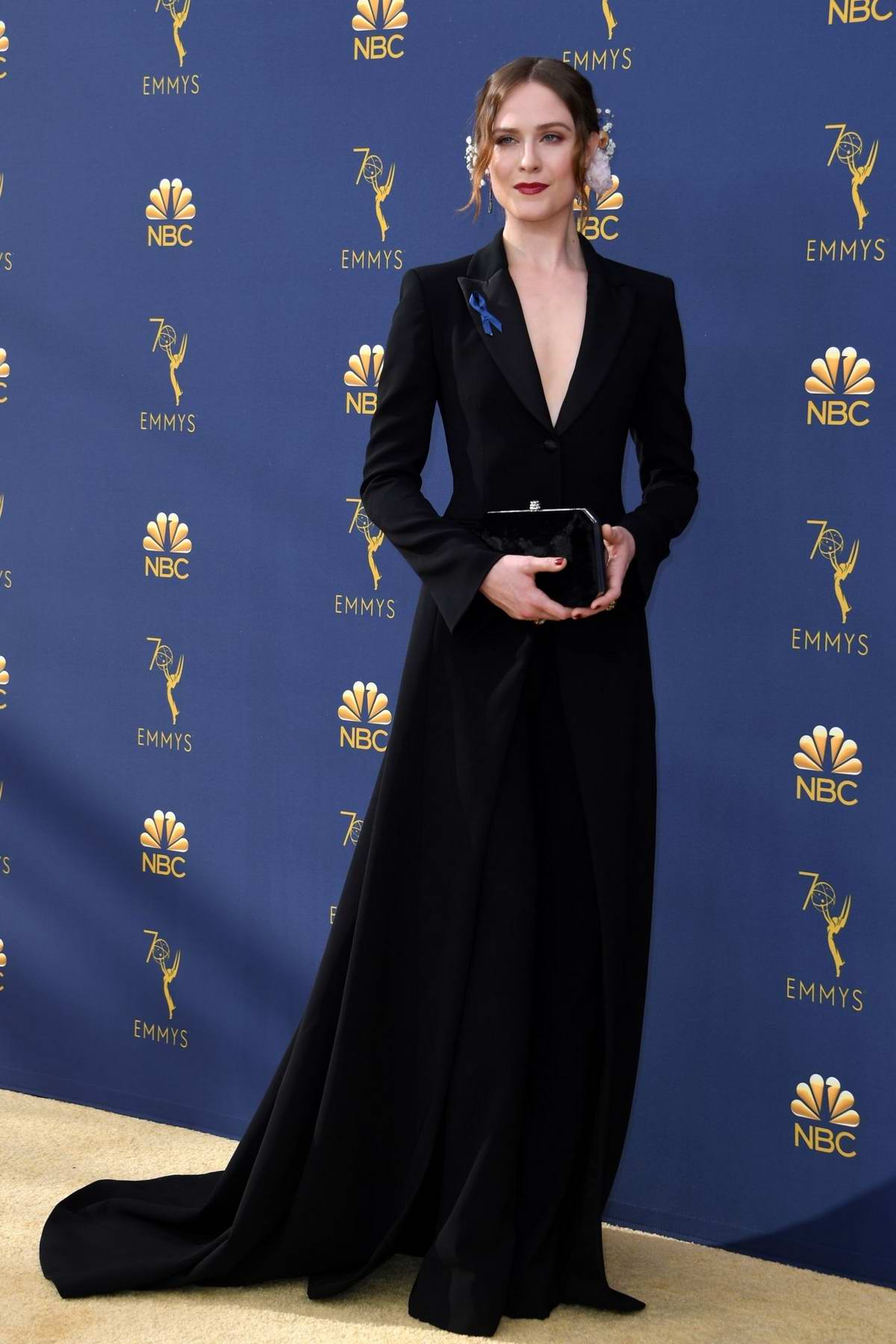 Evan Rachel Wood attends the 70th Primetime EMMY Awards (EMMYS 2018) at Microsoft Theater in Los Angeles