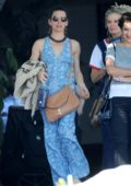 Evangeline Lilly grabs lunch with her girlfriends at Chateau Marmont in West Hollywood, Los Angeles