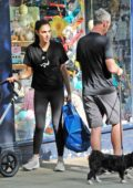 Gal Gadot taking her baby daughter out for a stroll in London, UK