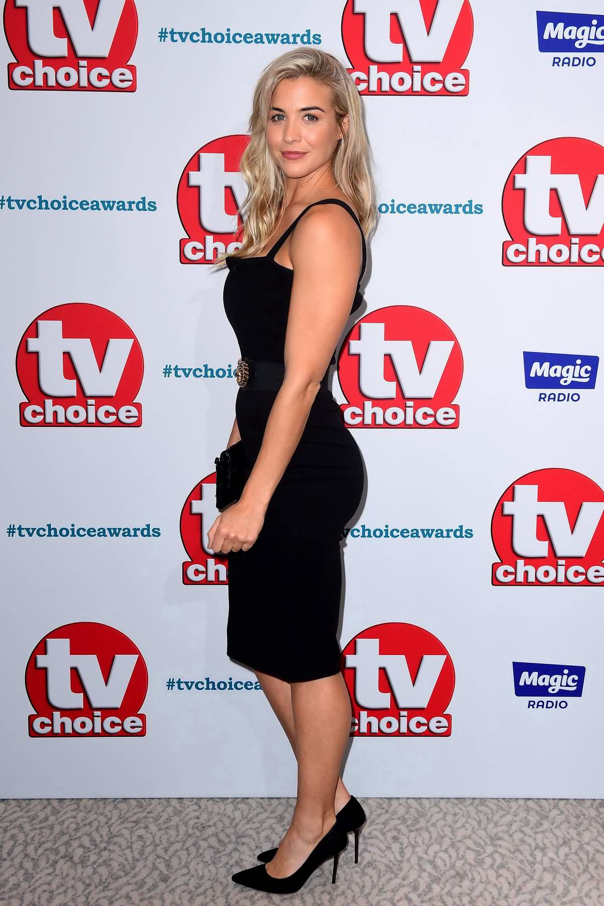 Gemma Atkinson attends The TV Choice Awards 2018 at Dorchester Hotel in London, UK