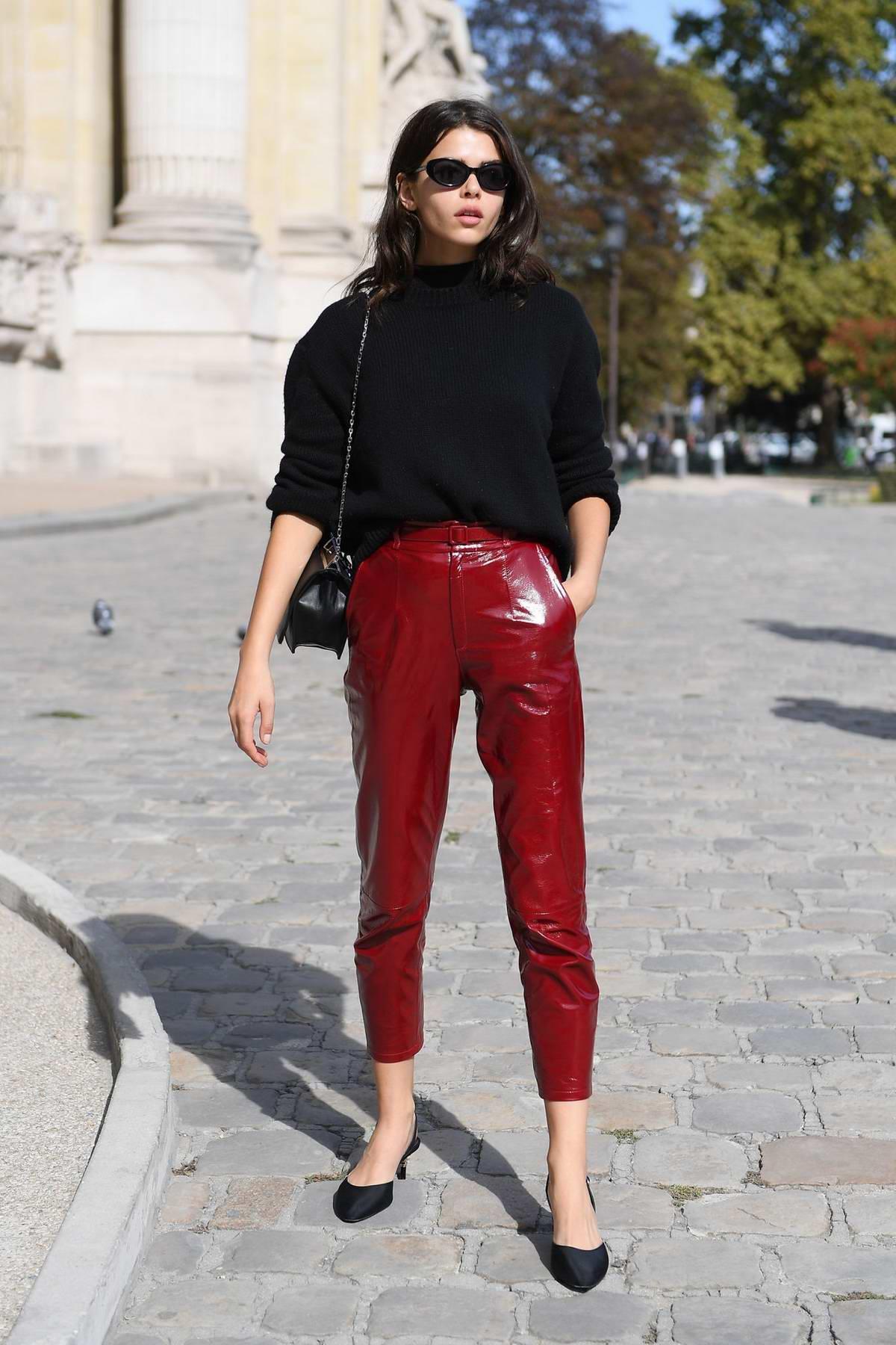 Georgia Fowler attends the Elie Saab Show during Paris Fashion Week in Paris, France