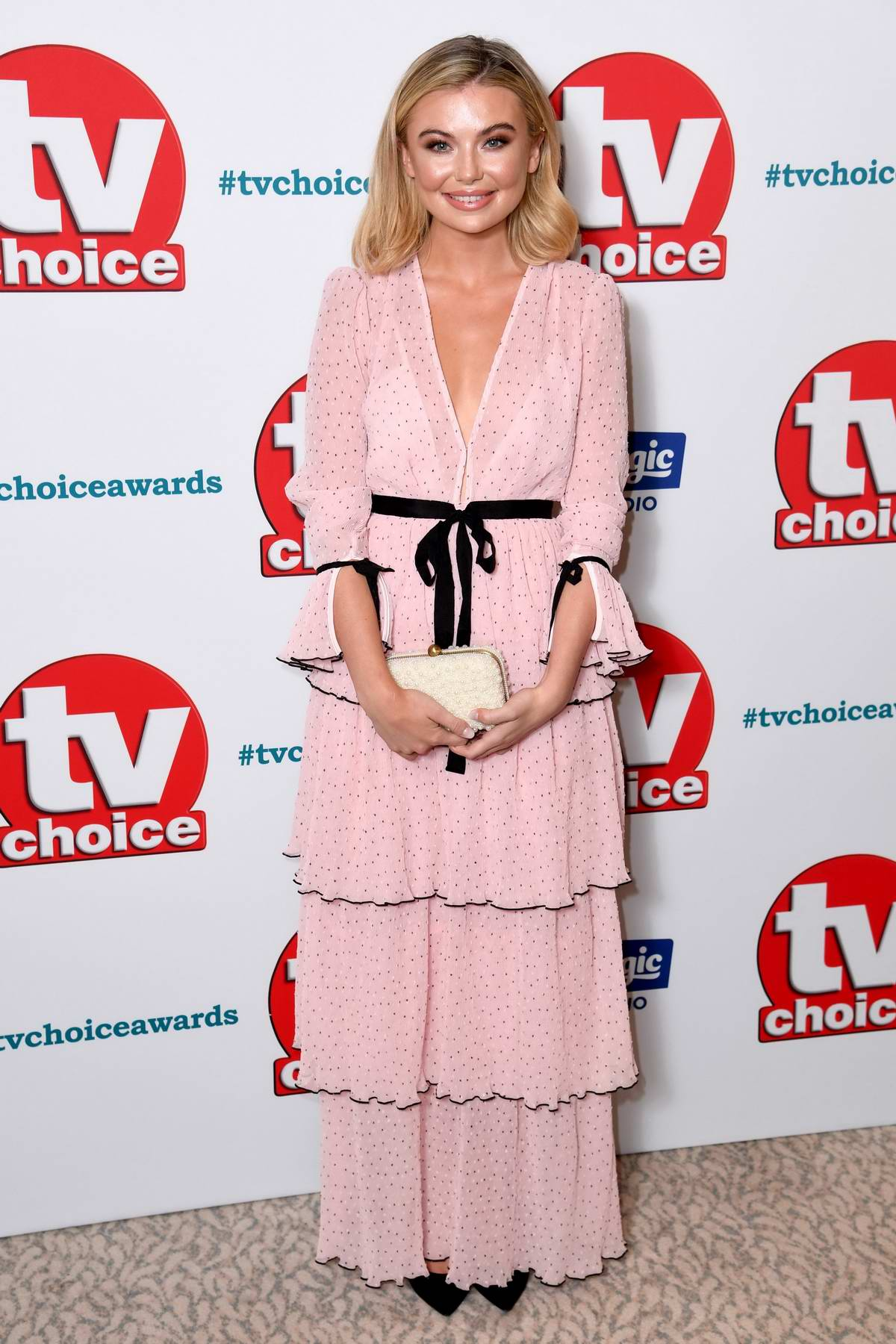 Georgia Toffolo attends The TV Choice Awards 2018 at Dorchester Hotel in London, UK