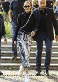 Gigi Hadid leaves the Max Mara Fashion Show, Spring/Summer 2019 during Milan Fashion Week in Milan, Italy