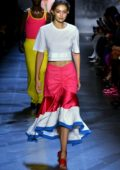 Gigi Hadid walks for Prabal Gurung Spring/Summer 2019 during New York Fashion Week in New York City