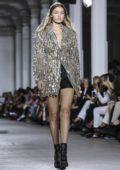 Gigi Hadid walks the runway at Roberto Cavalli Fashion Show, Spring/Summer 2019 during Milan Fashion Week in Milan, Italy