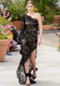 Gigi Hadid walks the runway at the Oscar de la Renta Fashion Show, Spring/Summer 2018 during New York Fashion Week in New York City
