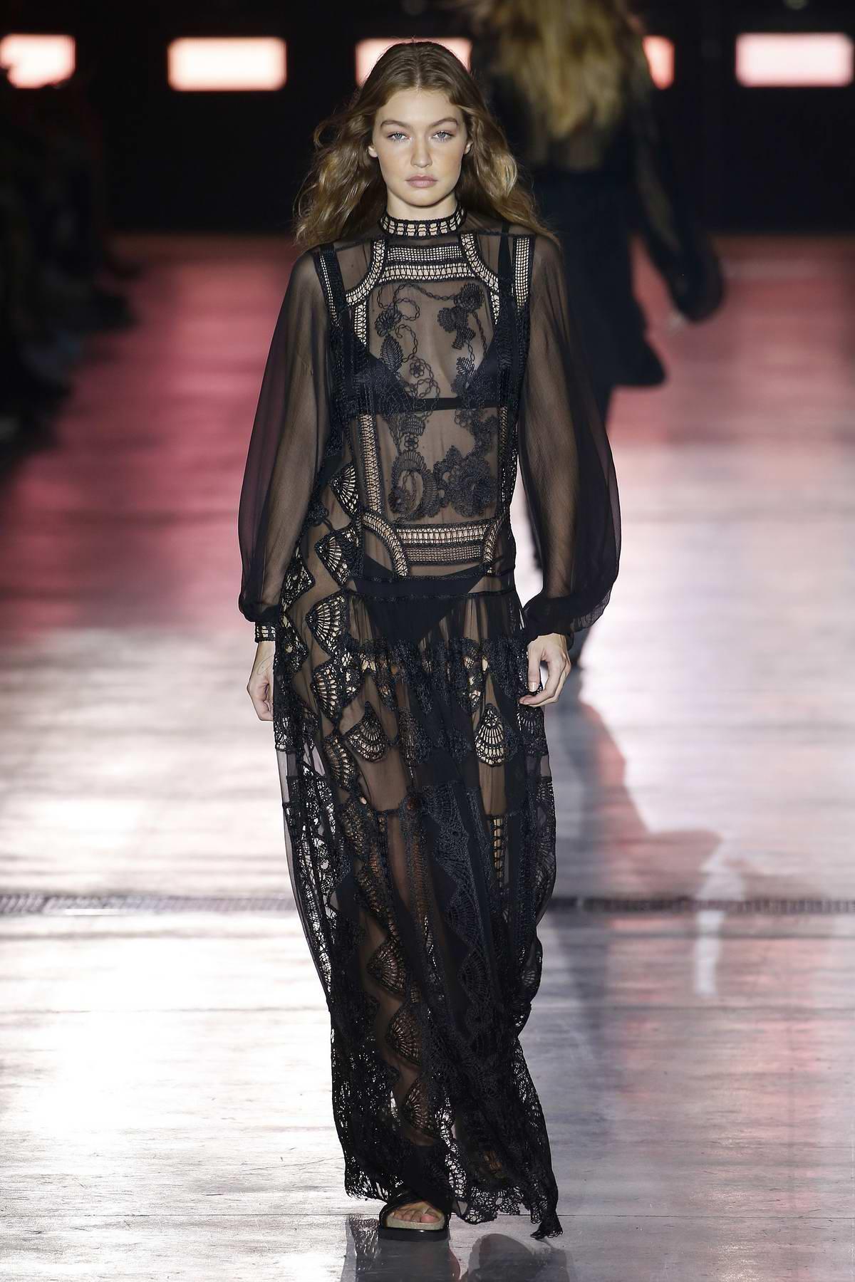 87daa8a4f27 Gigi Hadid walks the runway for Alberta Ferretti Show