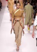 Gigi Hadid walks the runway for Fendi Fashion Show, Summer/Spring 2019 during Milan Fashion Week in Milan, Italy