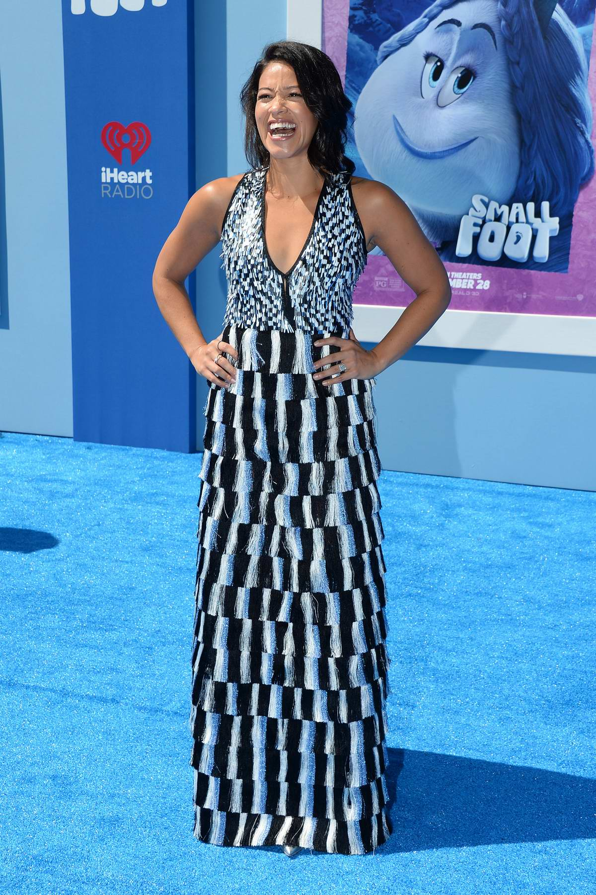 Gina Rodriguez attends 'Smallfoot' film premiere in Los Angeles