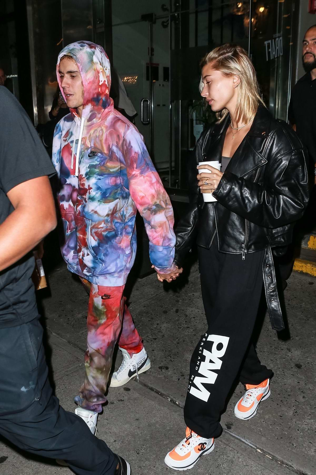 Hailey Baldwin and Justin Bieber spotted amidst wedding rumors as they stopped by a Starbucks to grab coffee in New York City