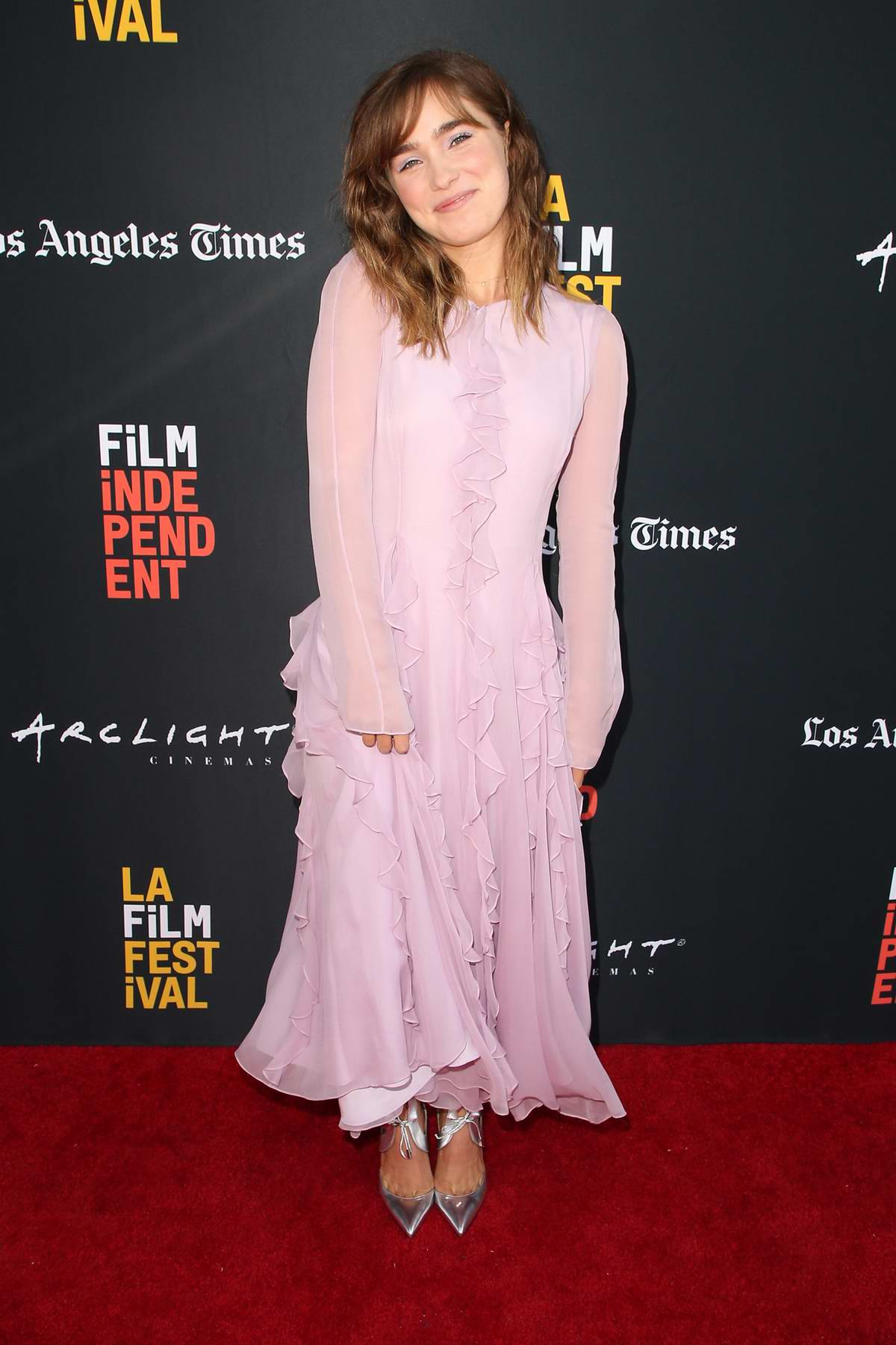 Haley Lu Richardson attends 'The Chaperone' premiere during 2018 LA Film Festival in Culver City, California