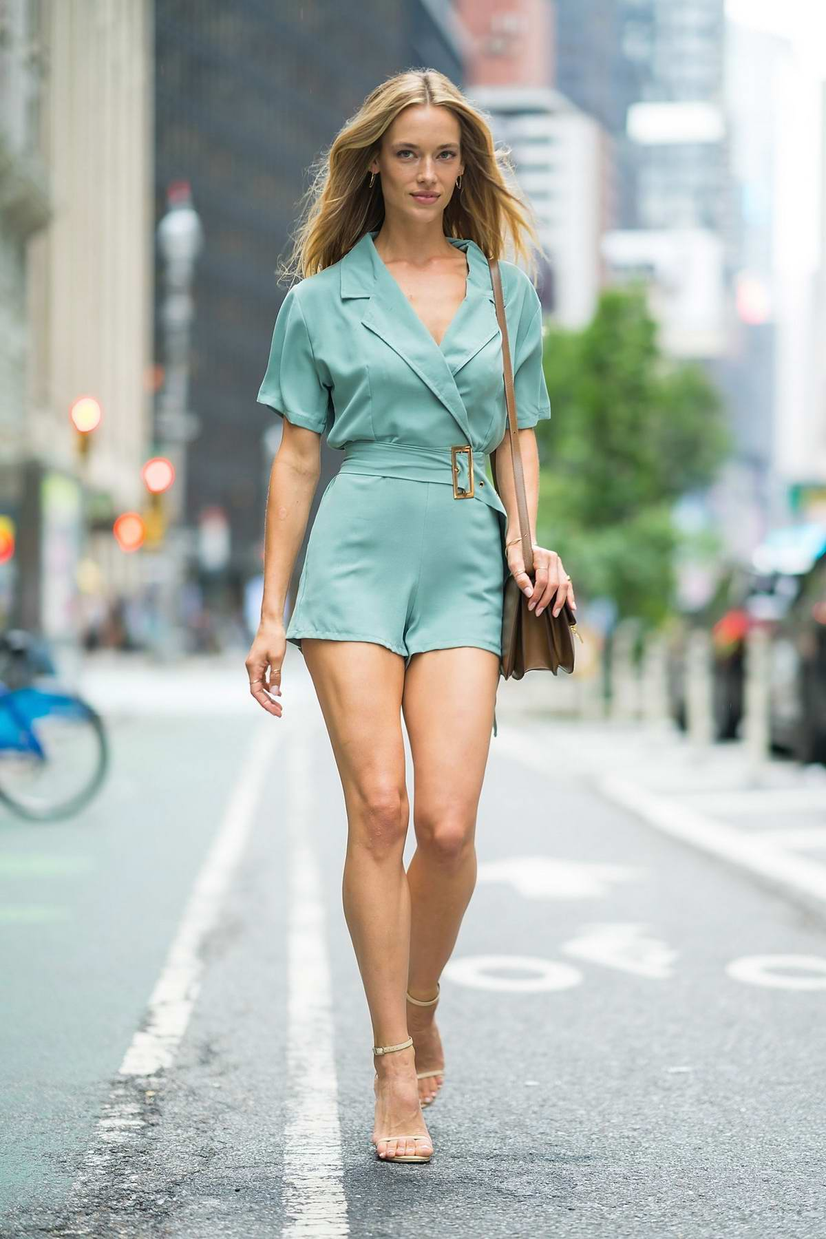 Hannah Ferguson attends casting call for the Victoria's Secret fashion show 2018 in Midtown in New York City