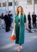 Hannah Ferguson seen while leaving Chloe Fashion Show during Paris Fashion Week in Paris, France