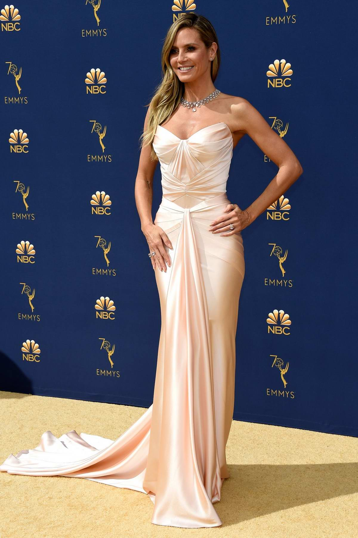Heidi Klum attends the 70th Primetime EMMY Awards (EMMYS 2018) at Microsoft Theater in Los Angeles