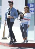Hilary Duff and Matthew Koma takes their dog to the yoga class in Los Angeles