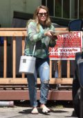 Hilary Duff stops by to grab a pizza in Studio City, Los Angeles