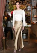 Hilary Rhoda attends Zimmermann Celebrates Spring 2019 Pre-Show Dinner in New York City