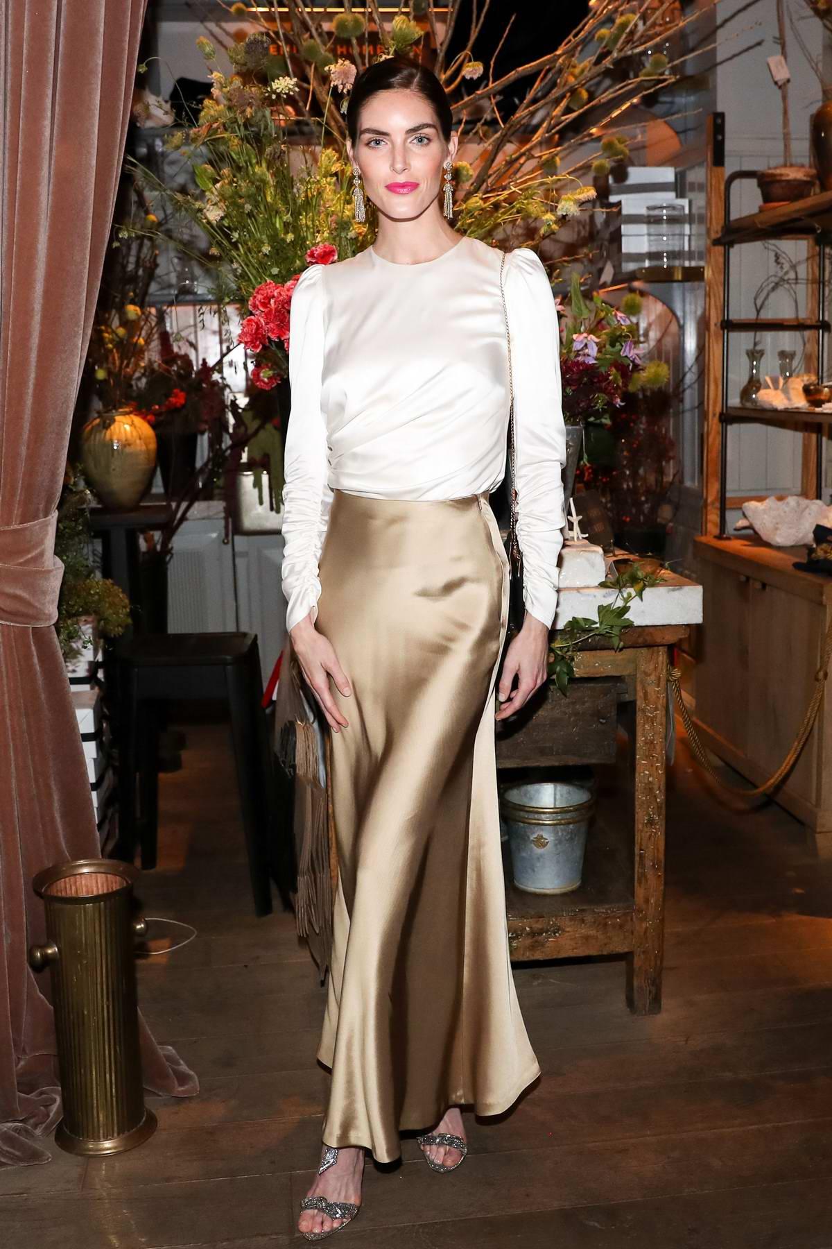 Hilary Rhoda attends Zimmermann Celebrates Spring 2019 Pre-Show Dinner in New York City