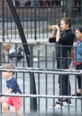 Irina Shayk enjoys a play date with her daughter in New York City