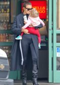 Irina Shayk spends time with her daughter after her busy NYFW schedule in New York City