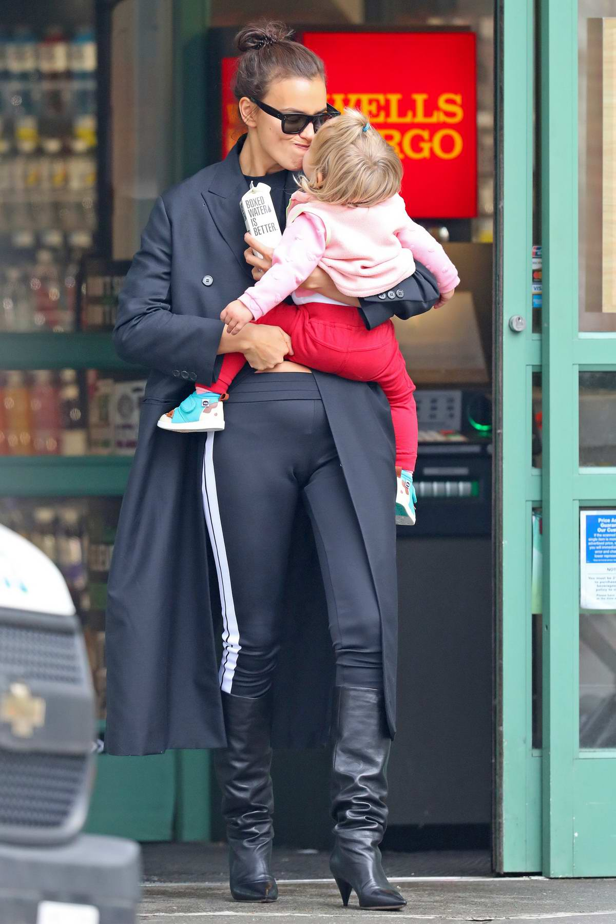 irina shayk spends time with her daughter after her busy