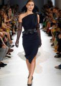 Irina Shayk walks the runway at the Max Mara Show, Spring/Summer 2019 during Milan Fashion Week in Milan, Italy