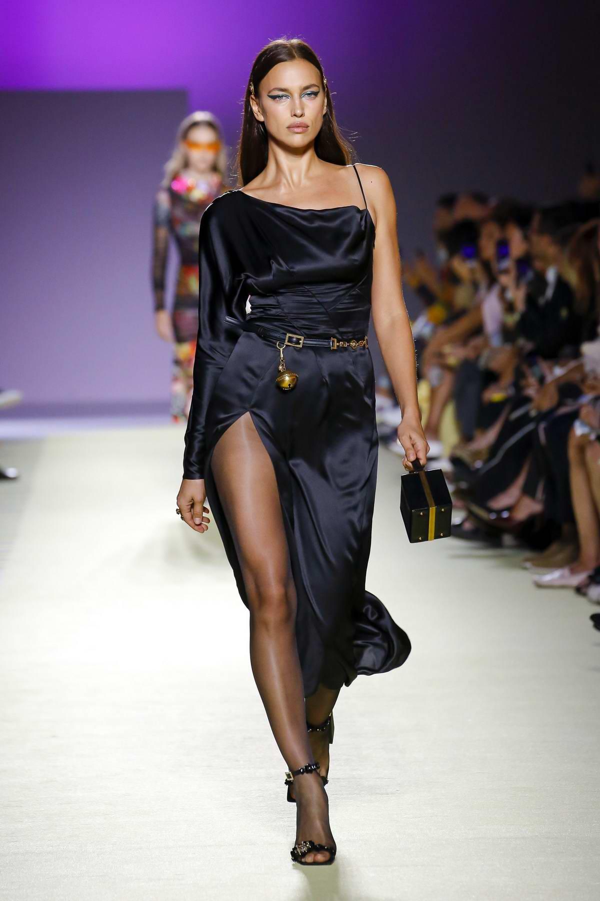 Irina Shayk walks the runway at Versace Fashion Show during Milan Fashion Week, Spring/Summer 2019 in Milan, Italy
