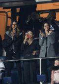 Izabel Goulart and Bruna Marquezine attends a football match PSG Vs Reims at the Parc des Princes in Paris, France