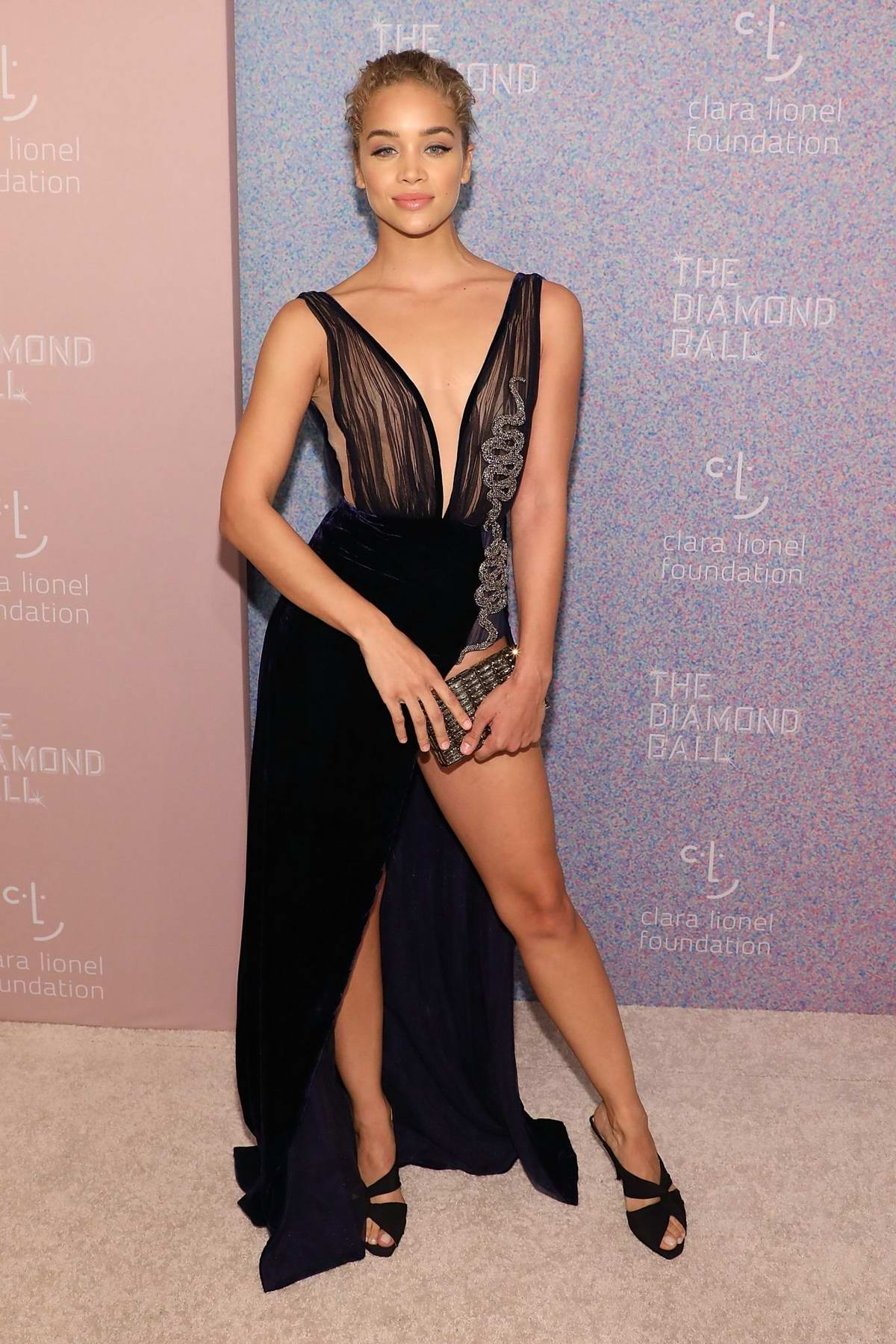 Jasmine Sanders attends 4th Annual Clara Lionel Foundation Diamond Ball in New York City