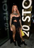 Jemma Lucy enjoys a night out at 20 Stories in Manchester, UK