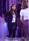 Jenna Coleman spotted on set of 'The One Show' at BBC One Studios in London, UK