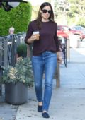 Jennifer Garner seen while making a coffee run in Brentwood, Los Angeles