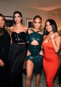 Jennifer Lopez and Alex Rodriguez celebrated with friends in her backstage after the show at Zappos Theater in Las Vegas