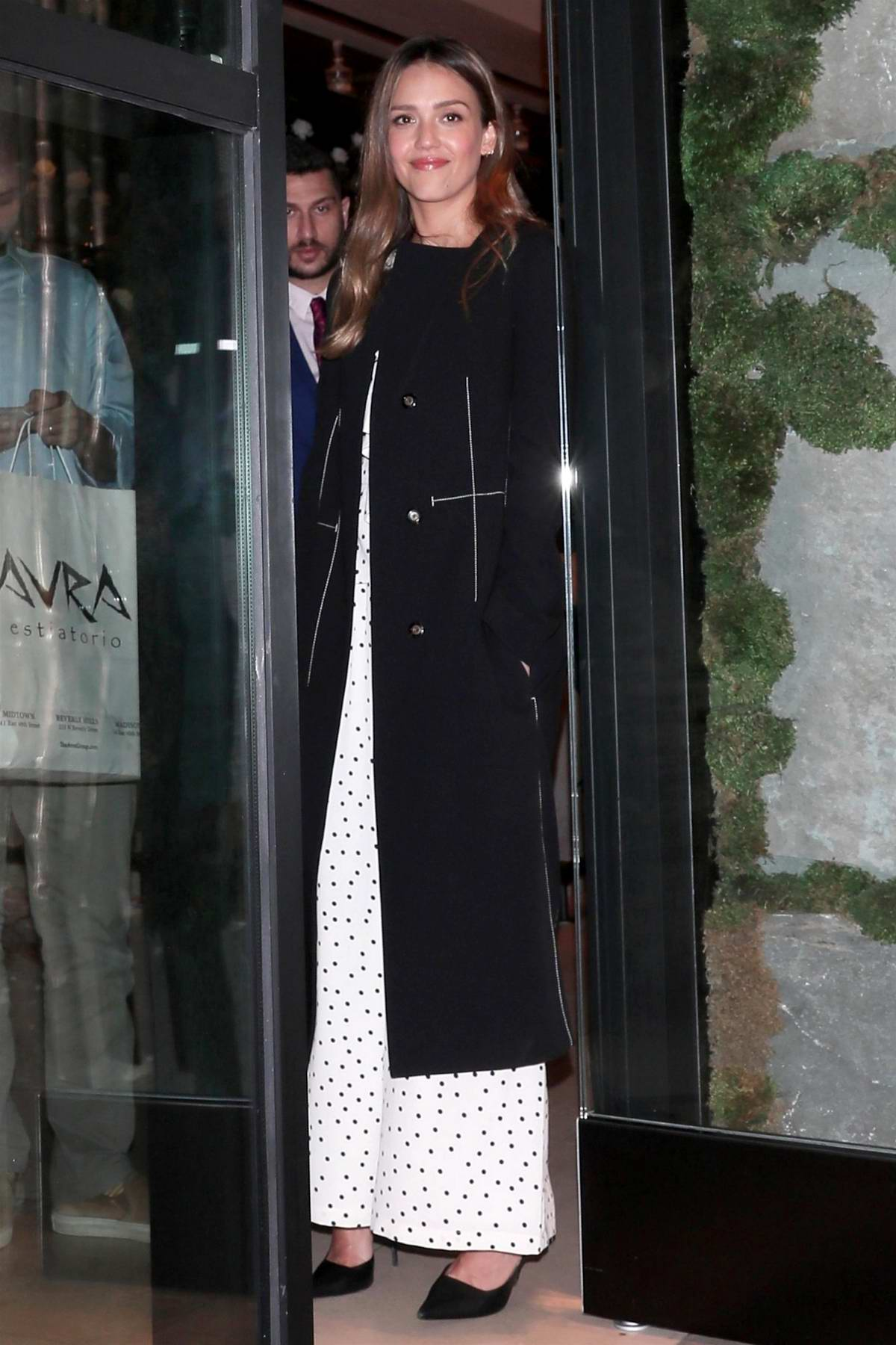 Jessica Alba spotted as she leaves Avra restaurant during a night out in Beverly Hills, Los Angeles