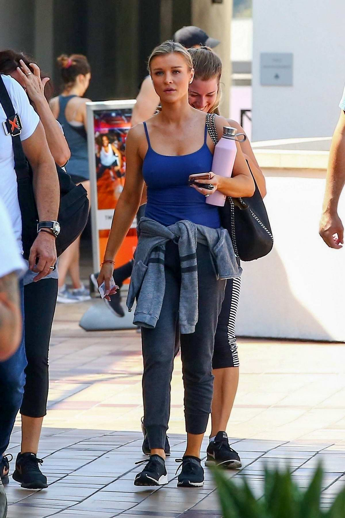 Joanna Krupa stops by a Starbucks after her workout session at Crunch Gym in West Hollywood, Los Angeles